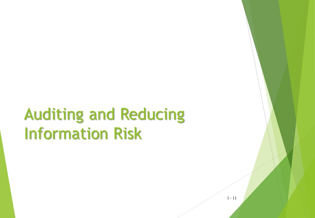 Auditing and Reducing Information Risk