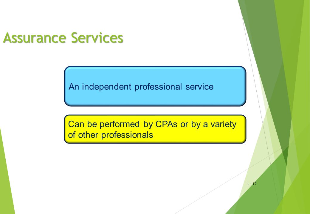 Assurance Services An independent professional service