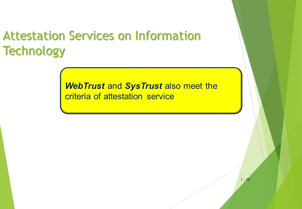 Attestation Services on Information Technology