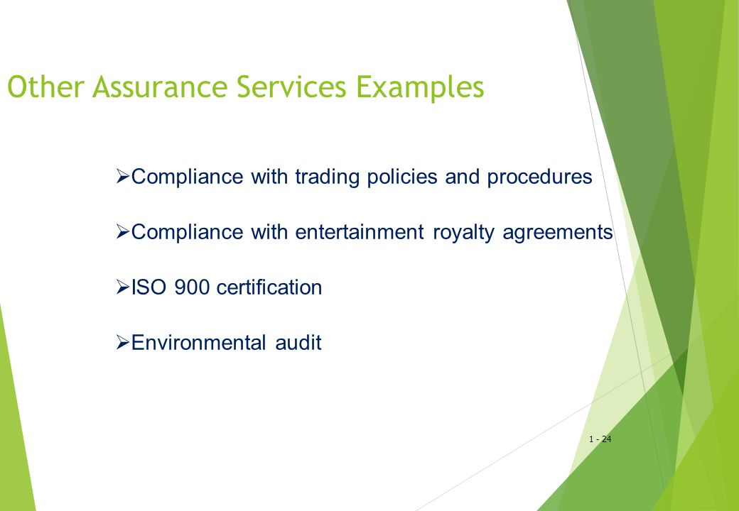 Other Assurance Services Examples