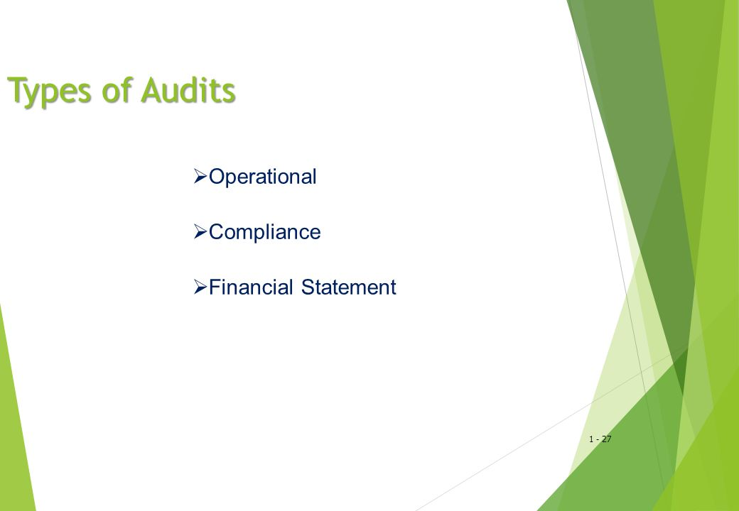 Types of Audits Operational Compliance Financial Statement