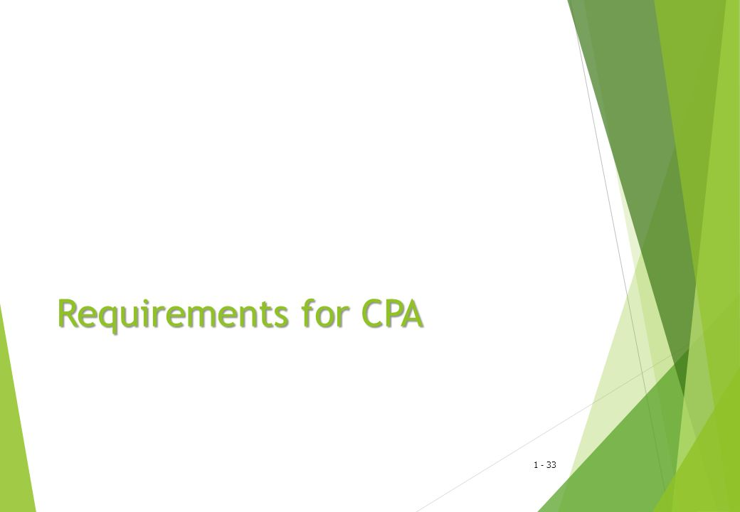 Requirements for CPA