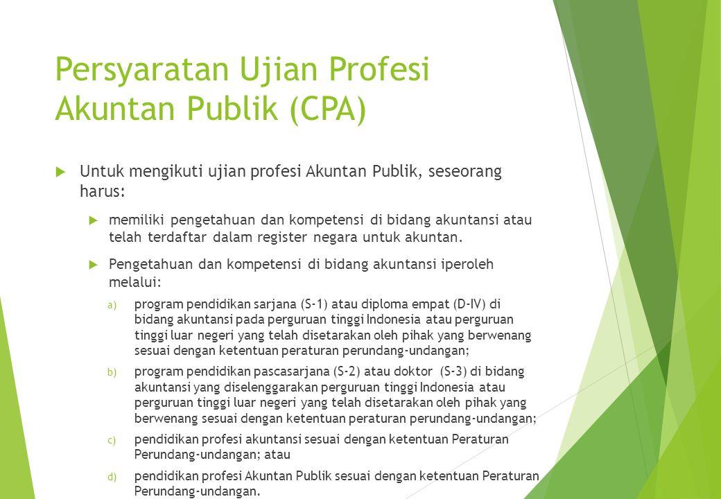 Persyaratan Ujian Profesi Akuntan Publik (CPA)
