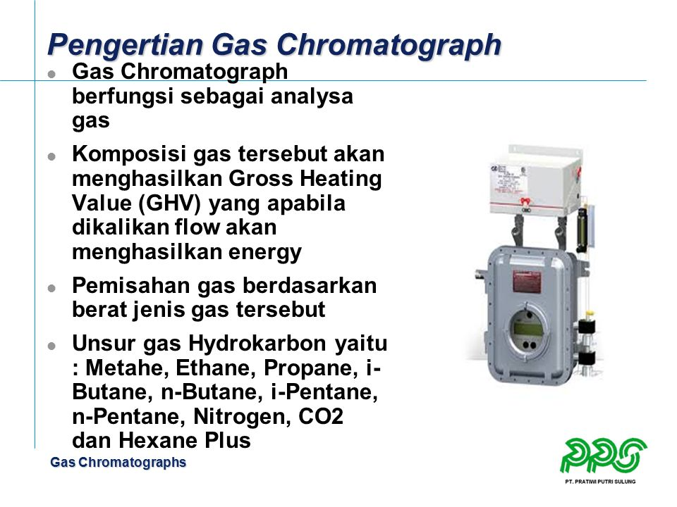 Pengertian Gas Chromatograph