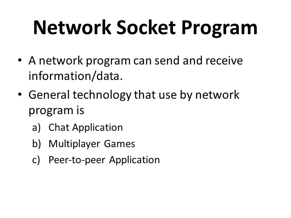 Network Socket Program