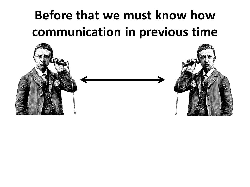 Before that we must know how communication in previous time