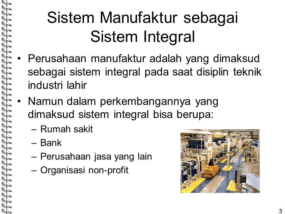 Sistem Manufaktur sebagai Sistem Integral