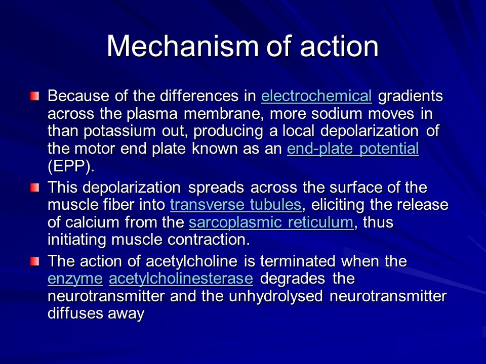 Mechanism of action