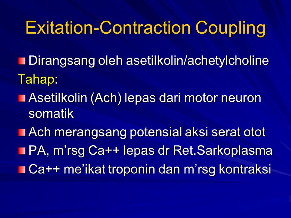 Exitation-Contraction Coupling