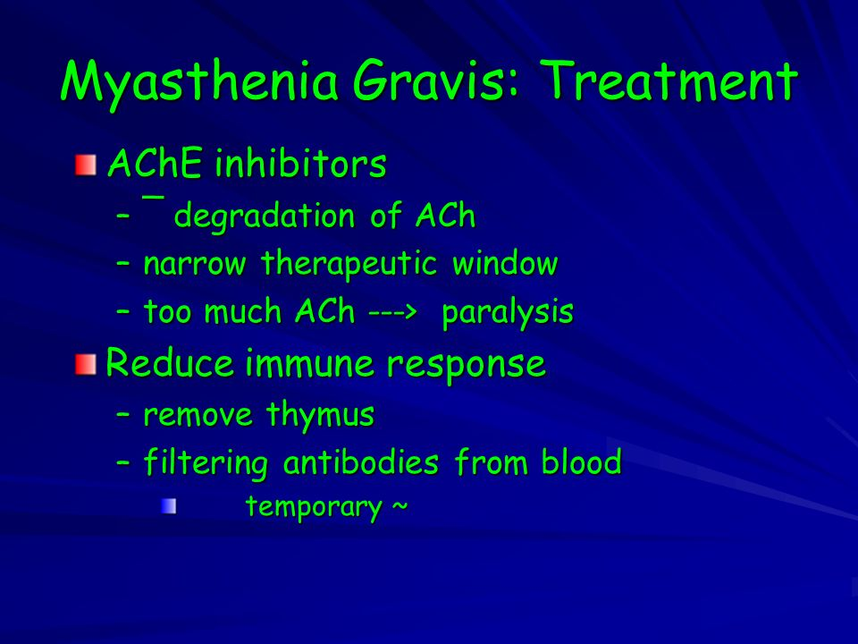 Myasthenia Gravis: Treatment