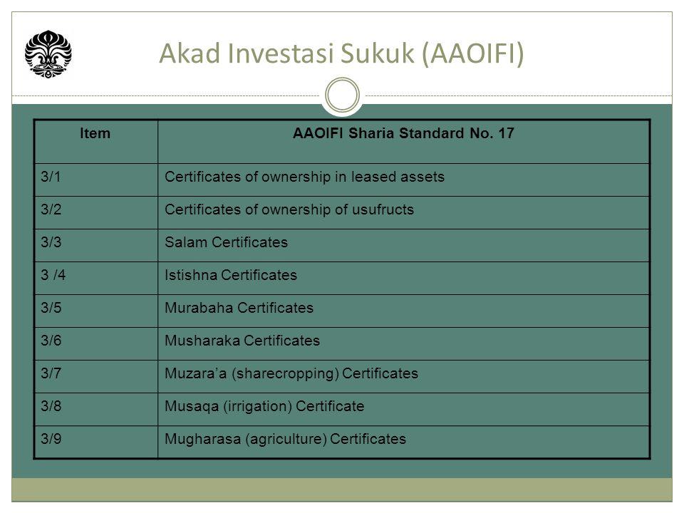 Akad Investasi Sukuk (AAOIFI)