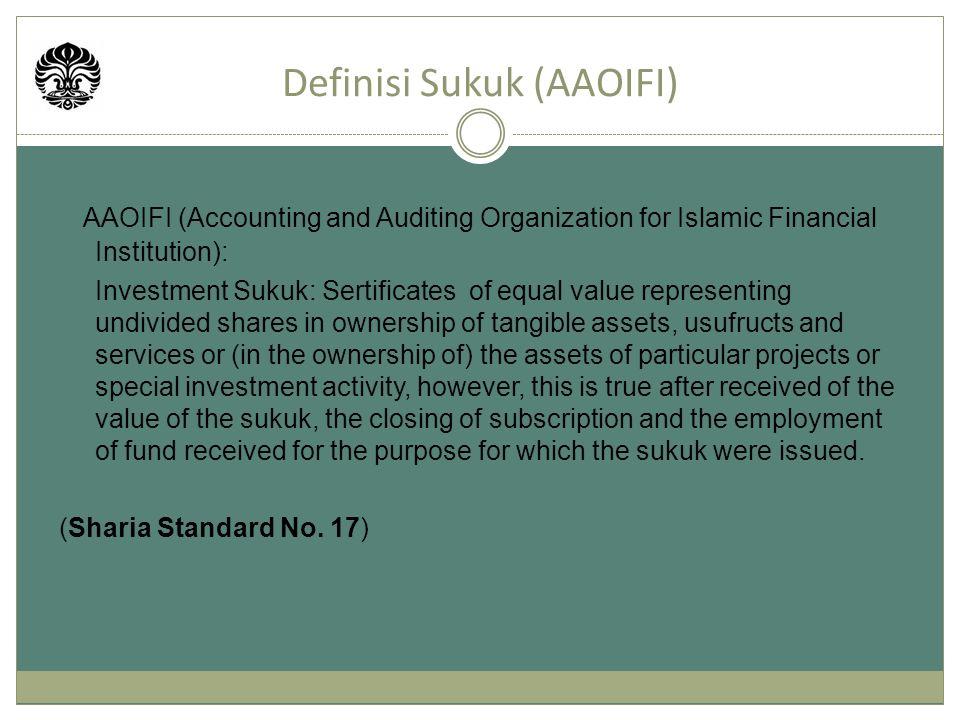 Definisi Sukuk (AAOIFI)