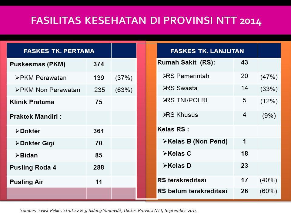 FASILITAS KESEHATAN DI PROVINSI NTT 2014