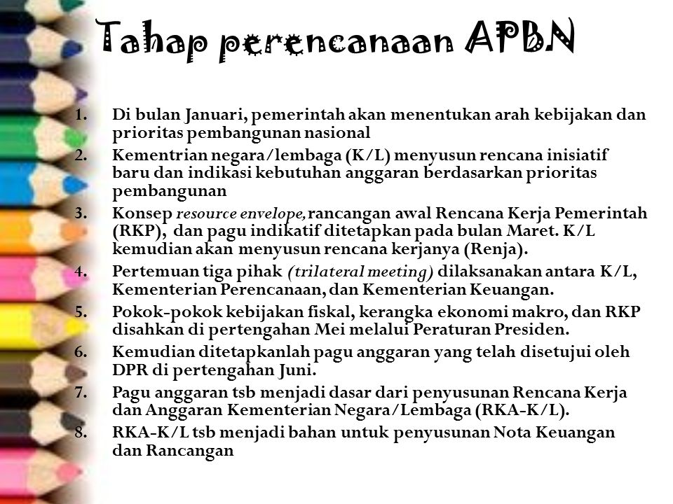 Tahap perencanaan APBN