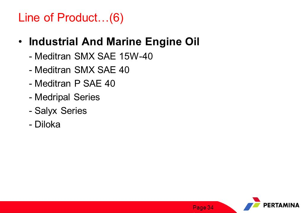 Line of Product…(7) Natural Gas Engine Oil - NG Lubes