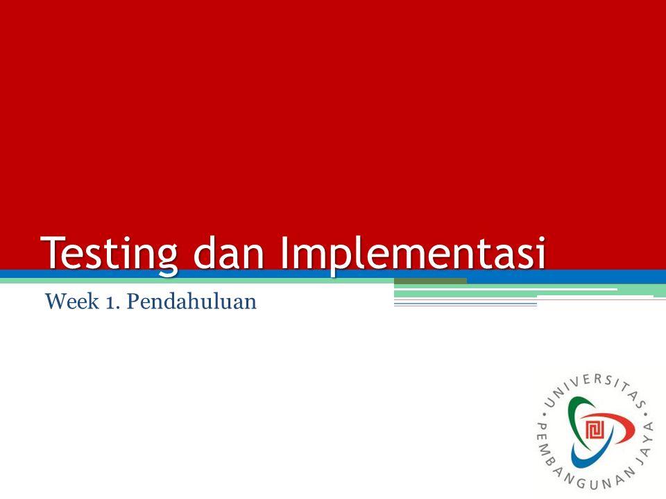Testing dan Implementasi