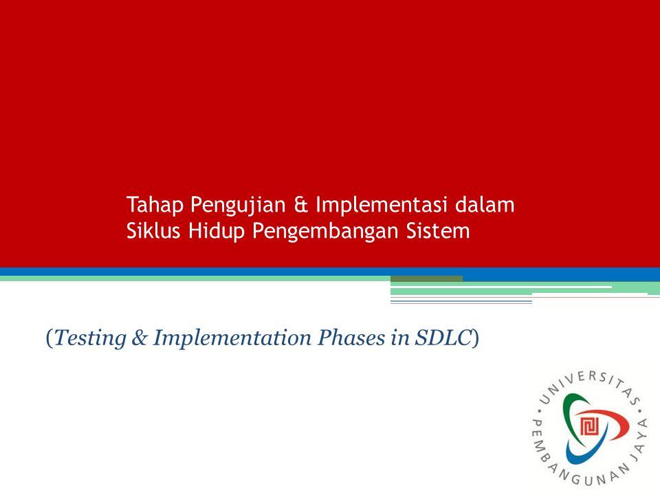 Tahap Pengujian & Implementasi dalam Siklus Hidup Pengembangan Sistem