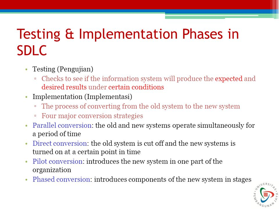 Testing & Implementation Phases in SDLC
