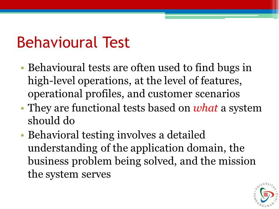 Behavioural Test