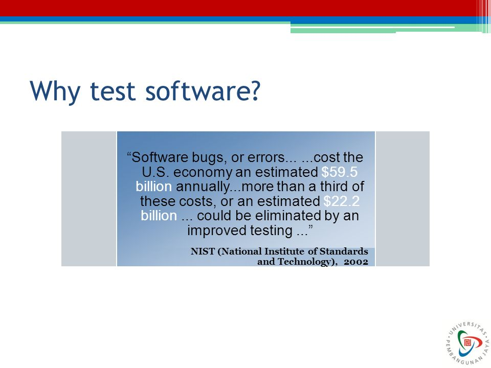Why test software