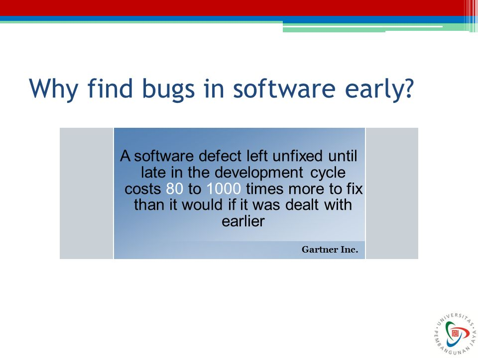 Why find bugs in software early