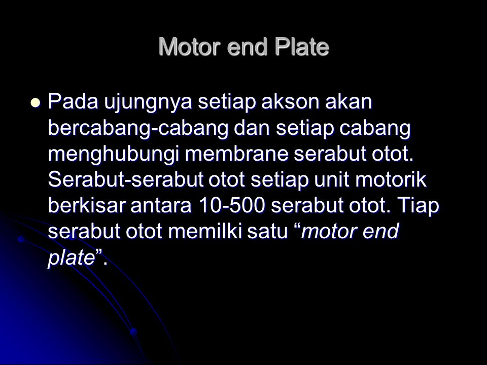 Motor end Plate