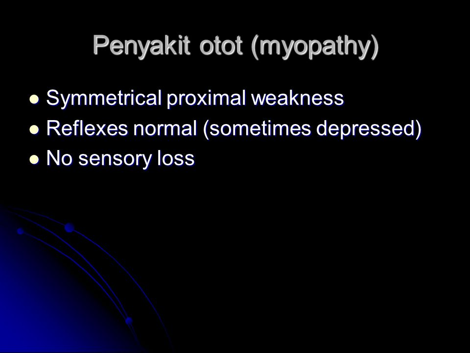 Penyakit otot (myopathy)