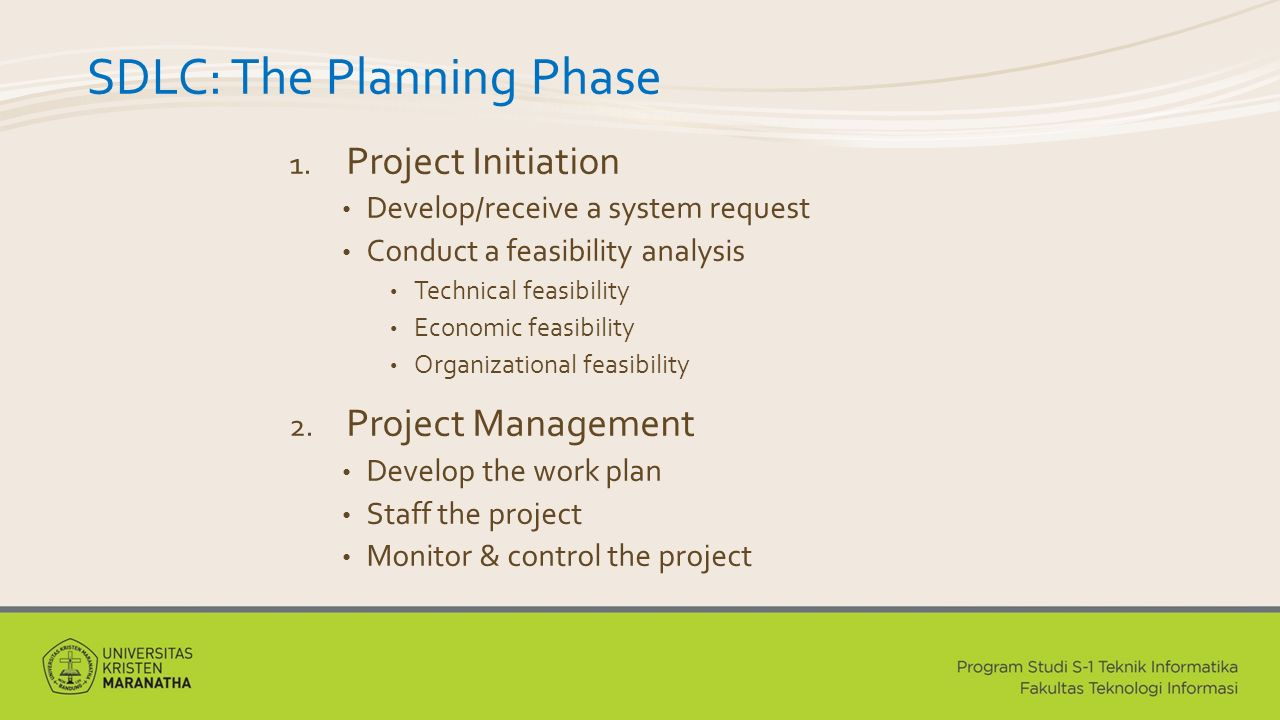 SDLC: The Planning Phase