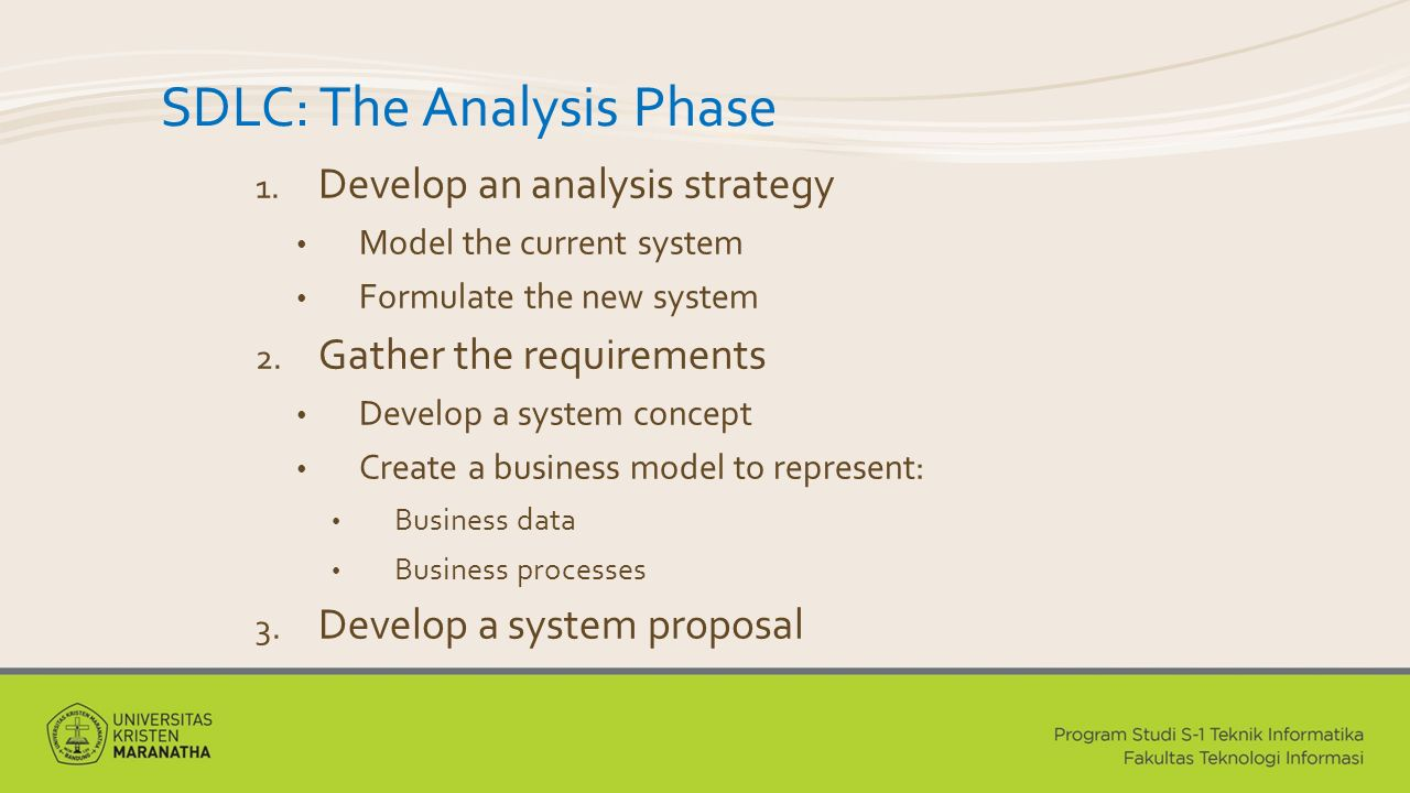 SDLC: The Analysis Phase