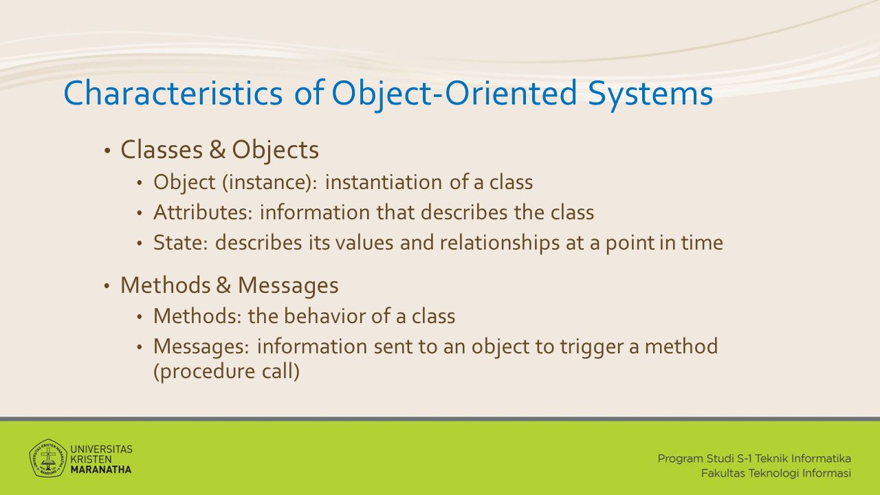 Characteristics of Object-Oriented Systems