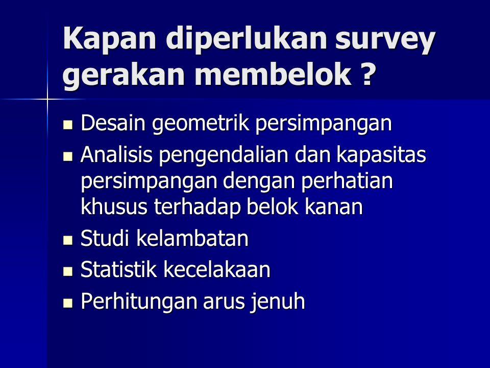 Kapan diperlukan survey gerakan membelok