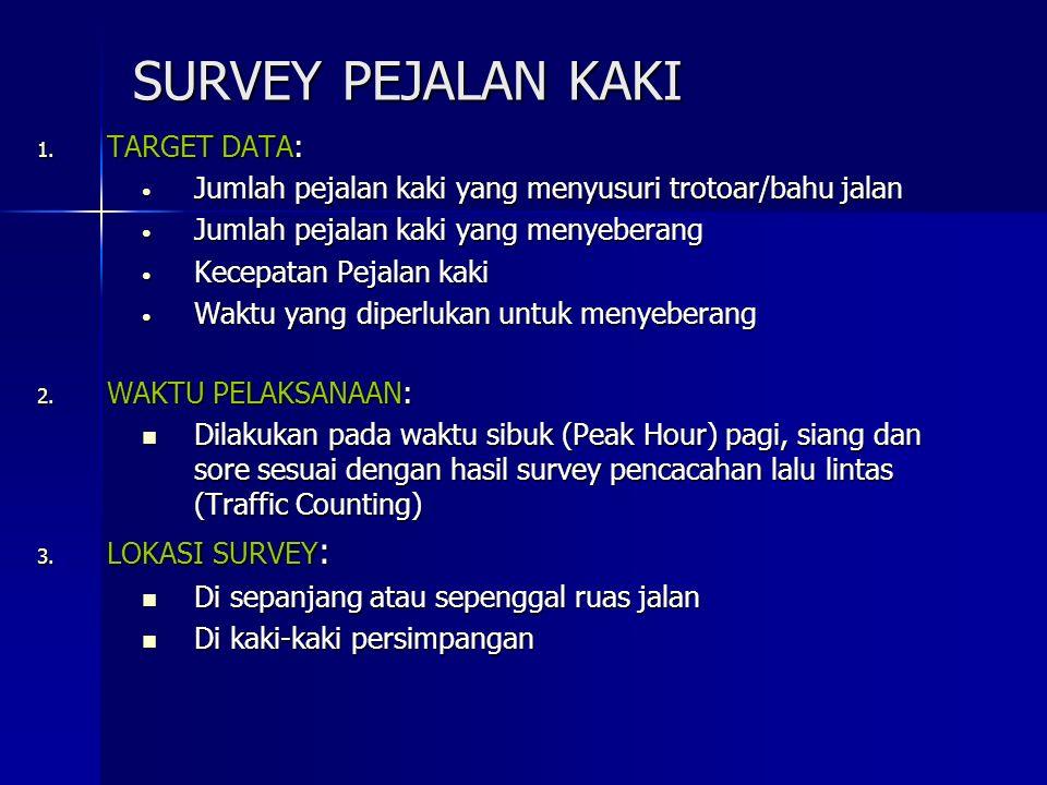 SURVEY PEJALAN KAKI TARGET DATA: