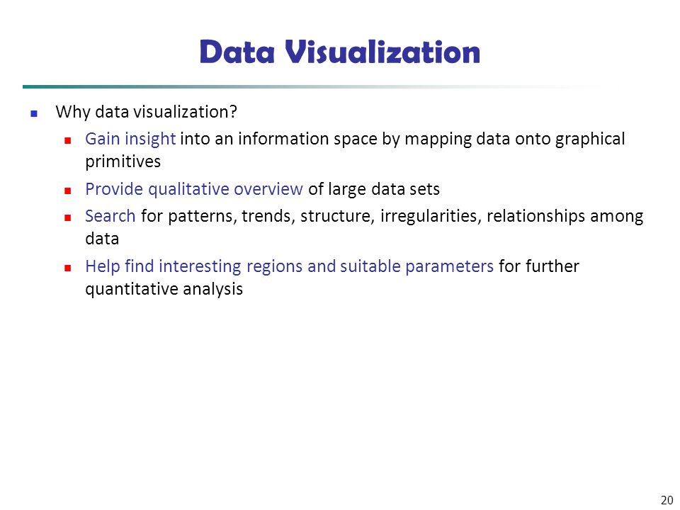 Data Visualization Why data visualization