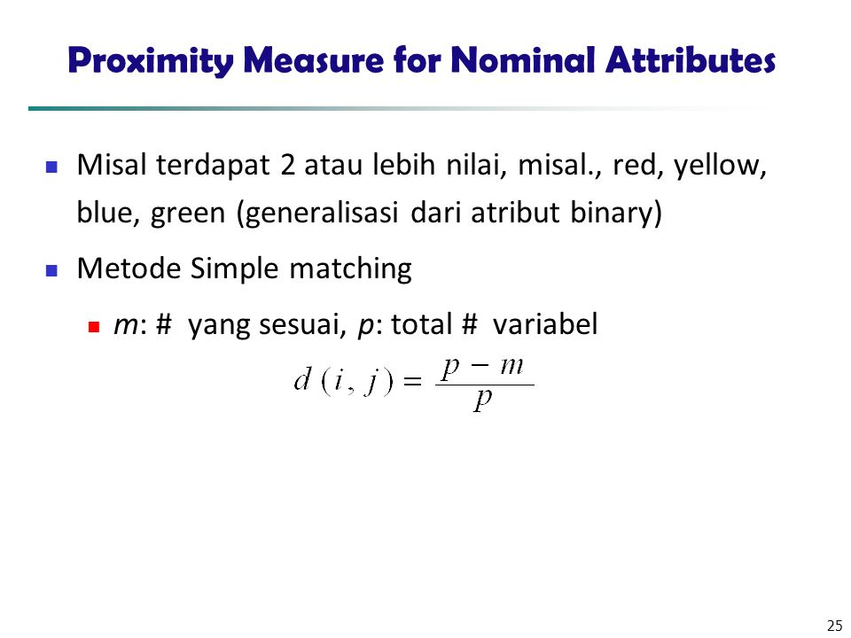 Proximity Measure for Nominal Attributes