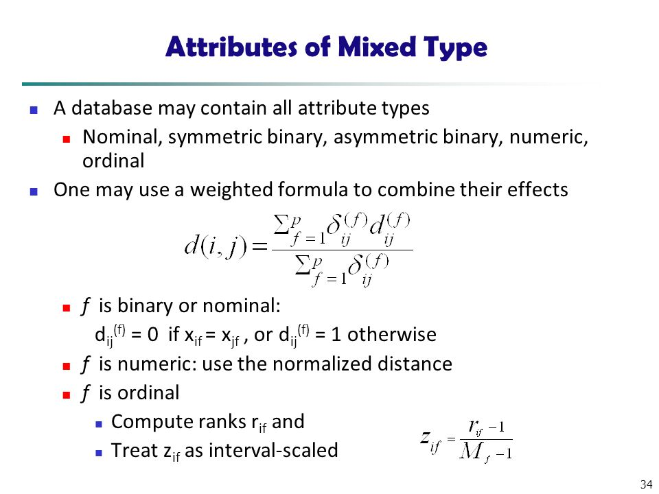 Attributes of Mixed Type