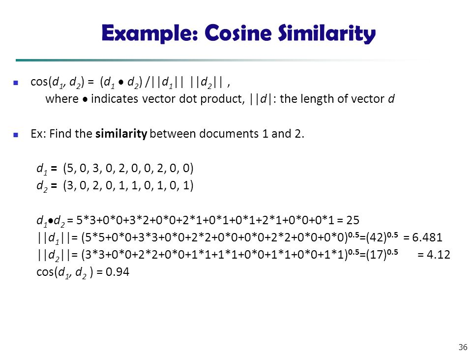 Example: Cosine Similarity