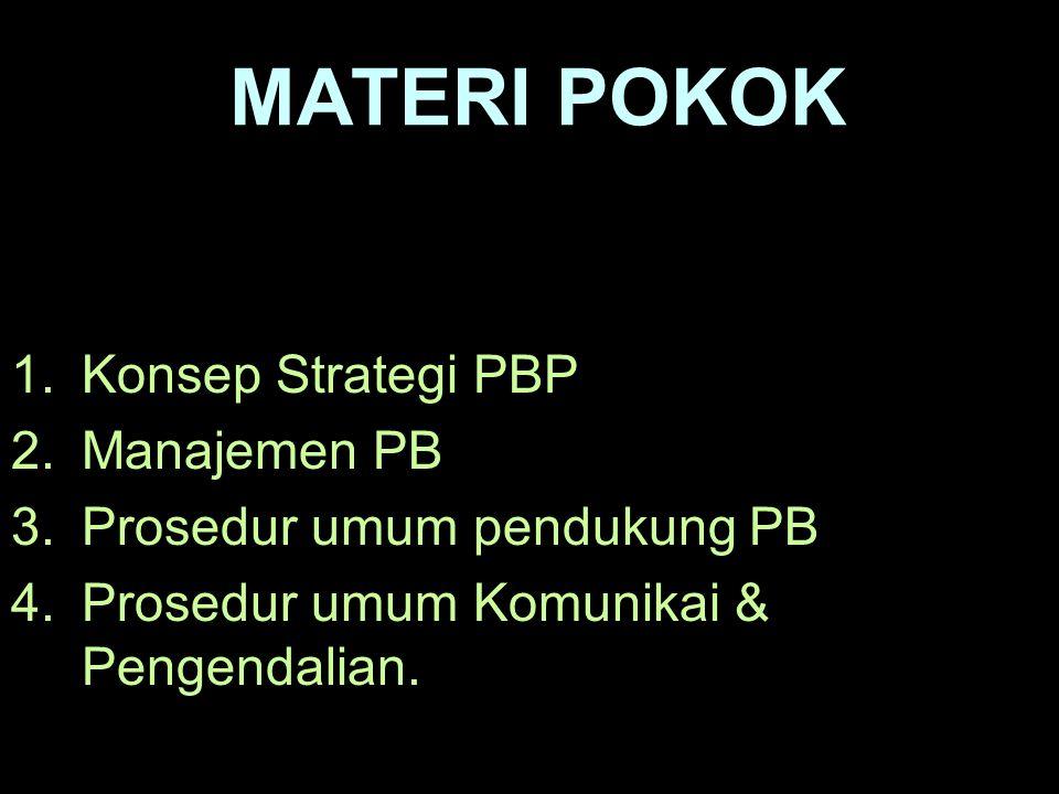 MATERI POKOK Konsep Strategi PBP Manajemen PB