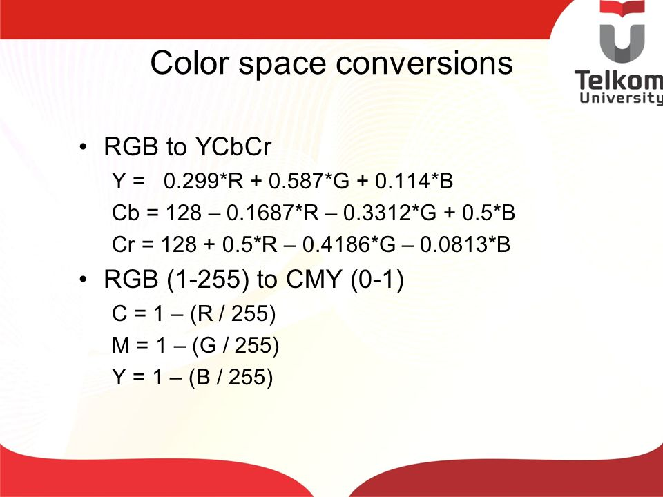 Color space conversions