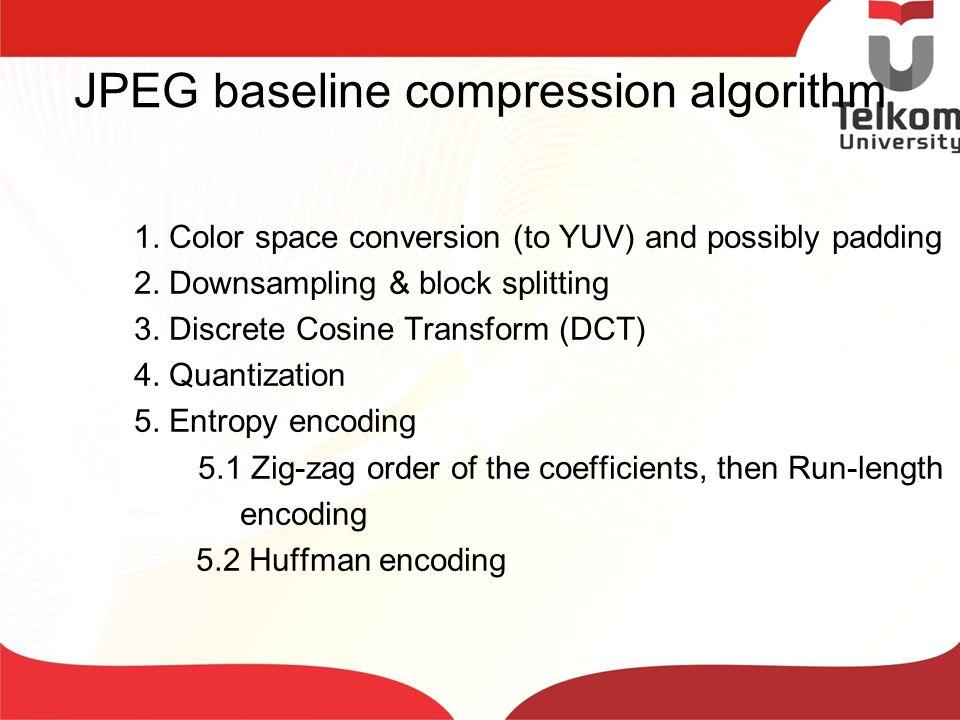 JPEG baseline compression algorithm