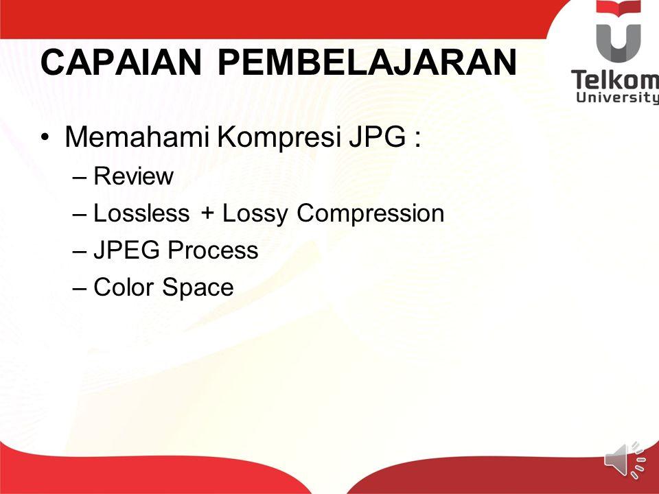 CAPAIAN PEMBELAJARAN Memahami Kompresi JPG : Review