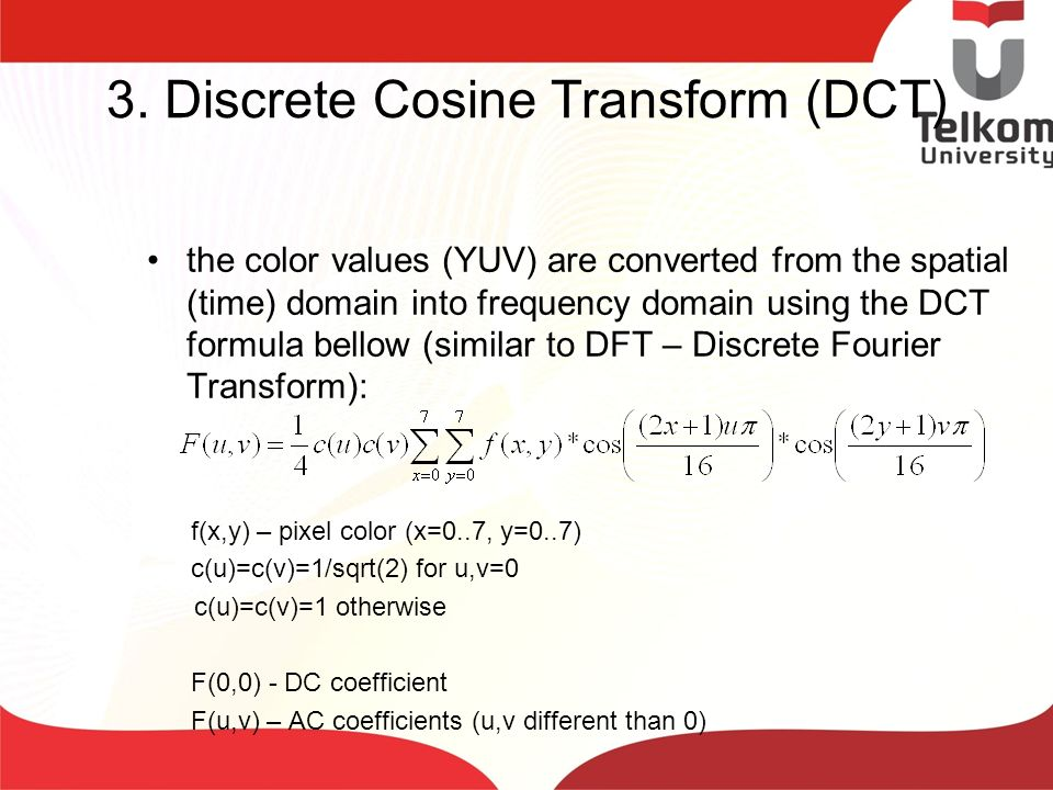 3. Discrete Cosine Transform (DCT)