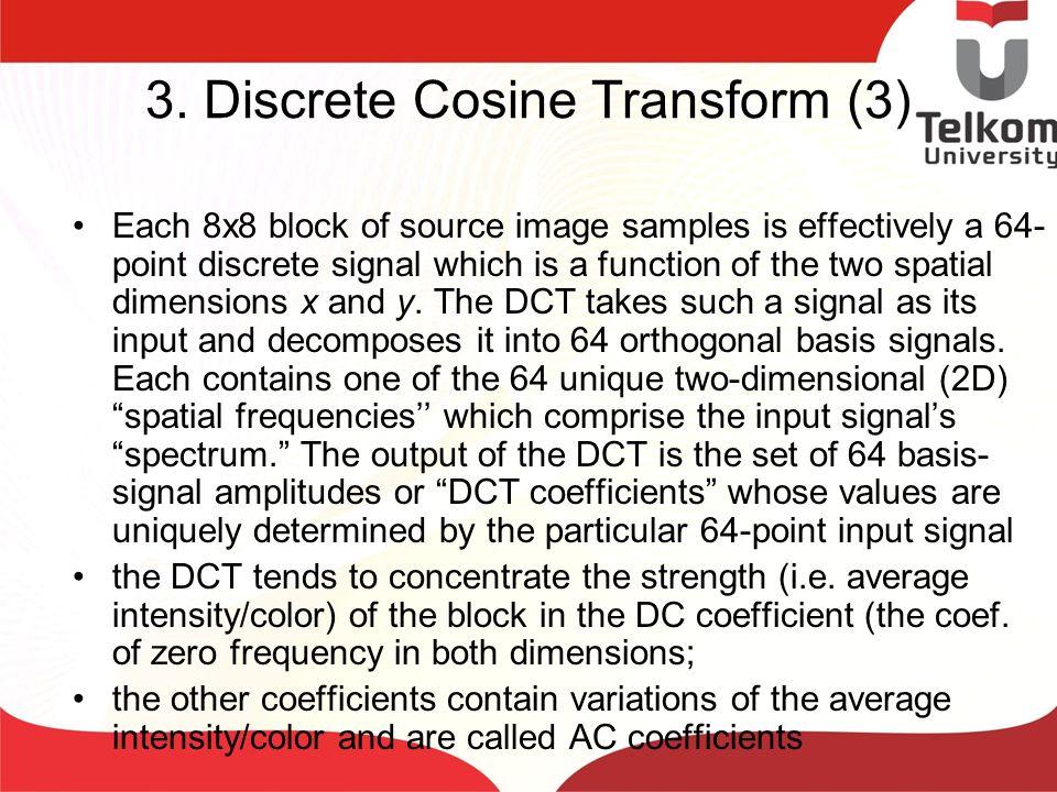 3. Discrete Cosine Transform (3)