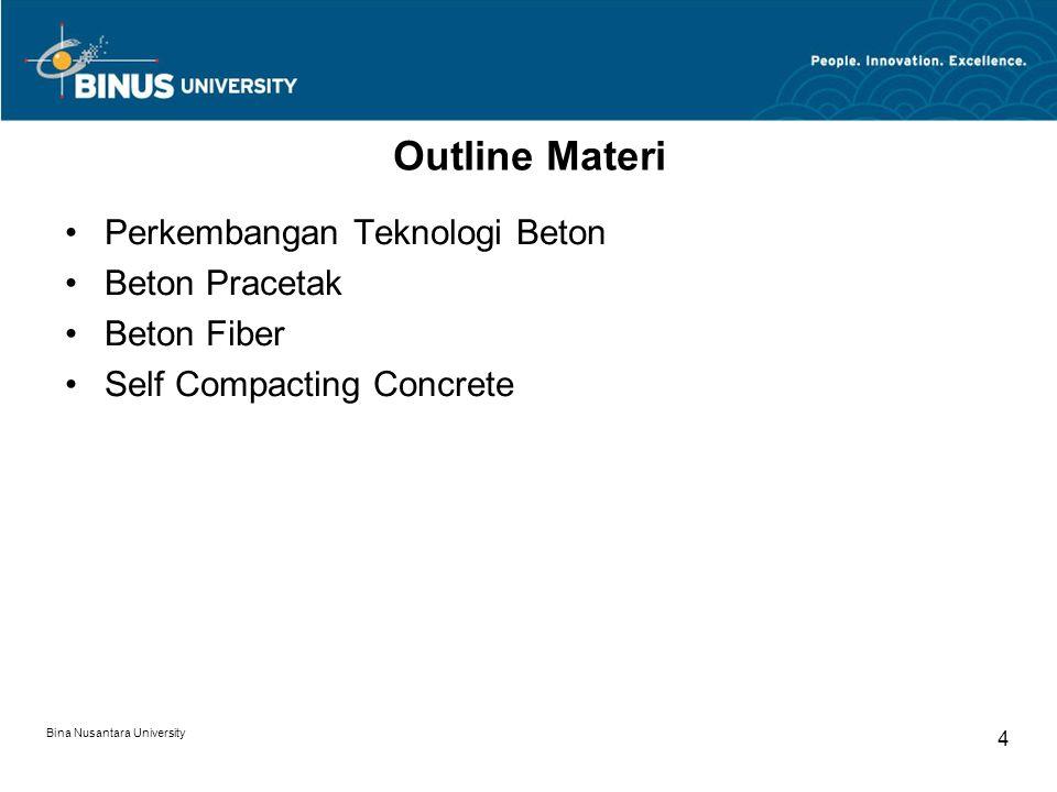 Outline Materi Perkembangan Teknologi Beton Beton Pracetak Beton Fiber