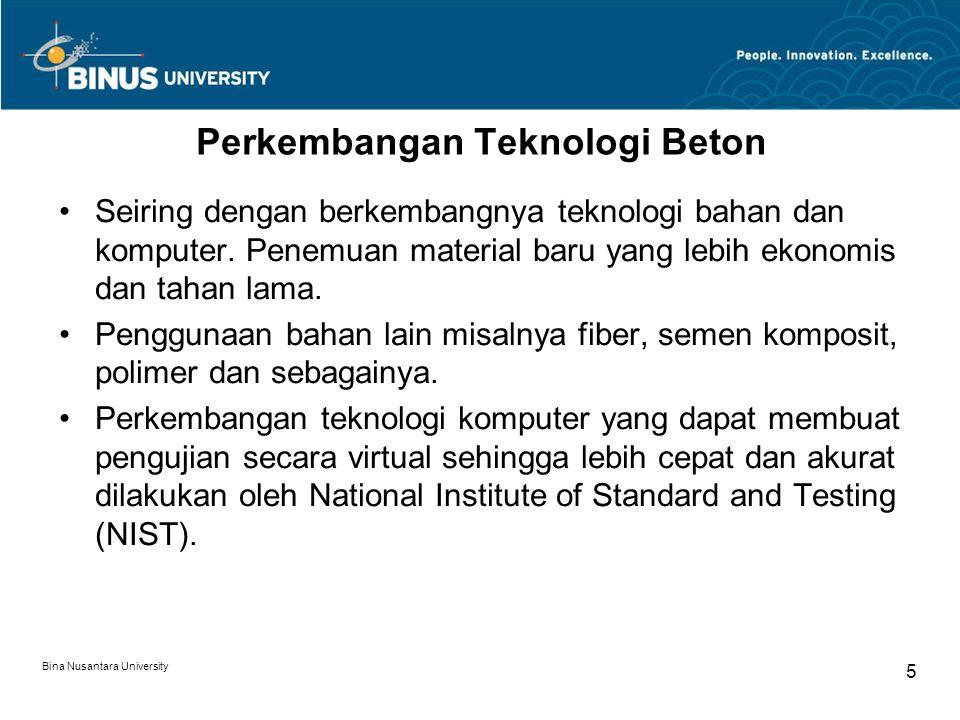 Perkembangan Teknologi Beton