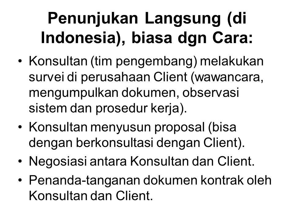 Penunjukan Langsung (di Indonesia), biasa dgn Cara: