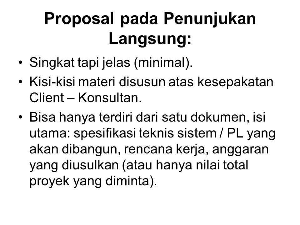 Proposal pada Penunjukan Langsung: