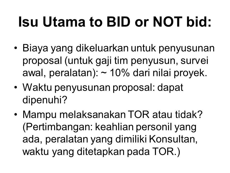 Isu Utama to BID or NOT bid: