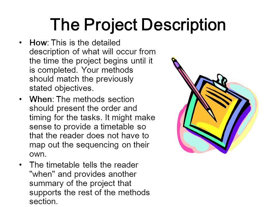 The Project Description