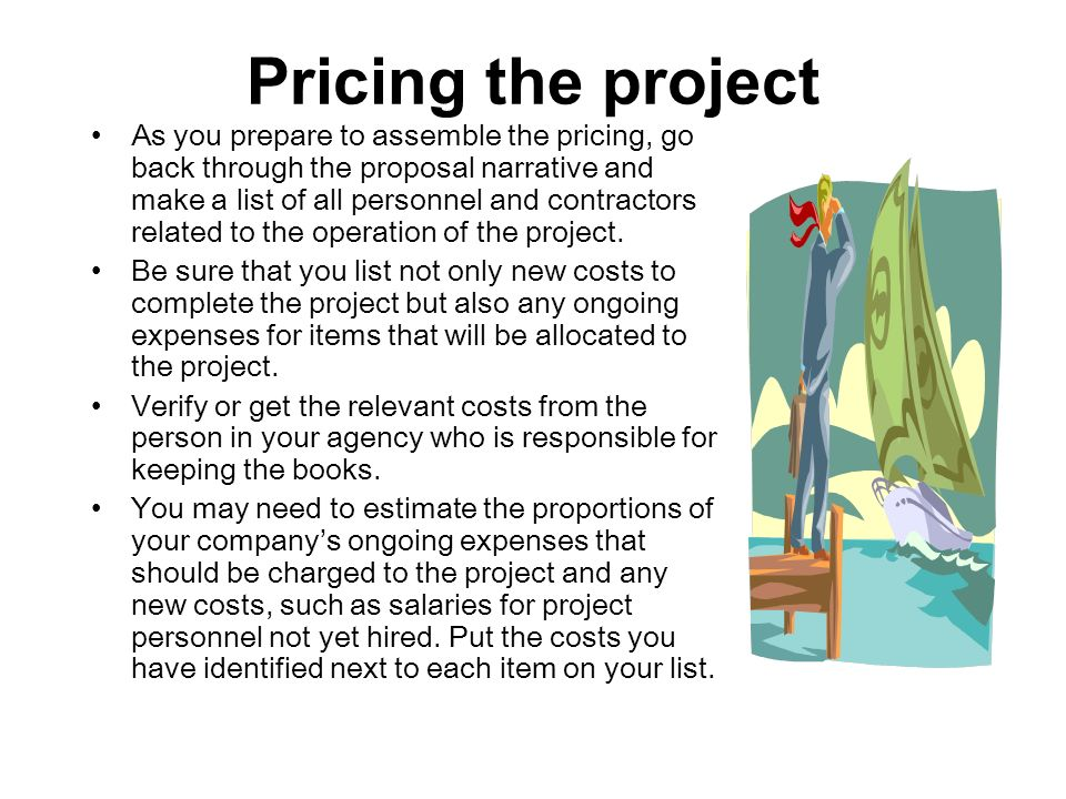 Pricing the project