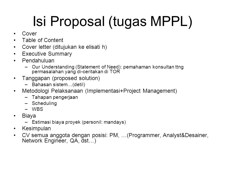 Isi Proposal (tugas MPPL)